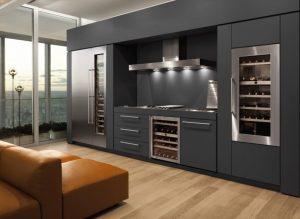 Wijnklimaatkast in keuken